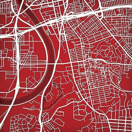 Amazon Com University Of Dayton Campus Map Art Unframed 12 X 12