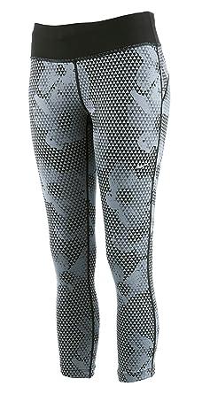 da8c0def04764 NIKE Epic Run Printed Ladies Cropped Running Tights, Grey/Black, M:  Amazon.co.uk: Clothing