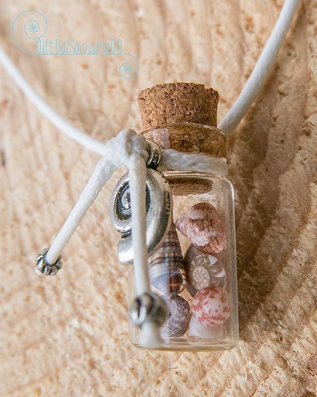 Collar de conchas de mar regalo de Pascua botella de cristal y ...