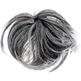 HAIR EXTENSION SCRUNCHIE DARK GREY UP DO DOWN DO TOPPER SPIKY TWISTER [Misc.] Synthetic