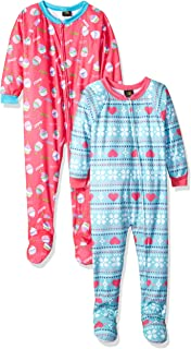 Just Love Girls Footed Pajamas / Flannel Blanket Sleepers (Pack of 2)