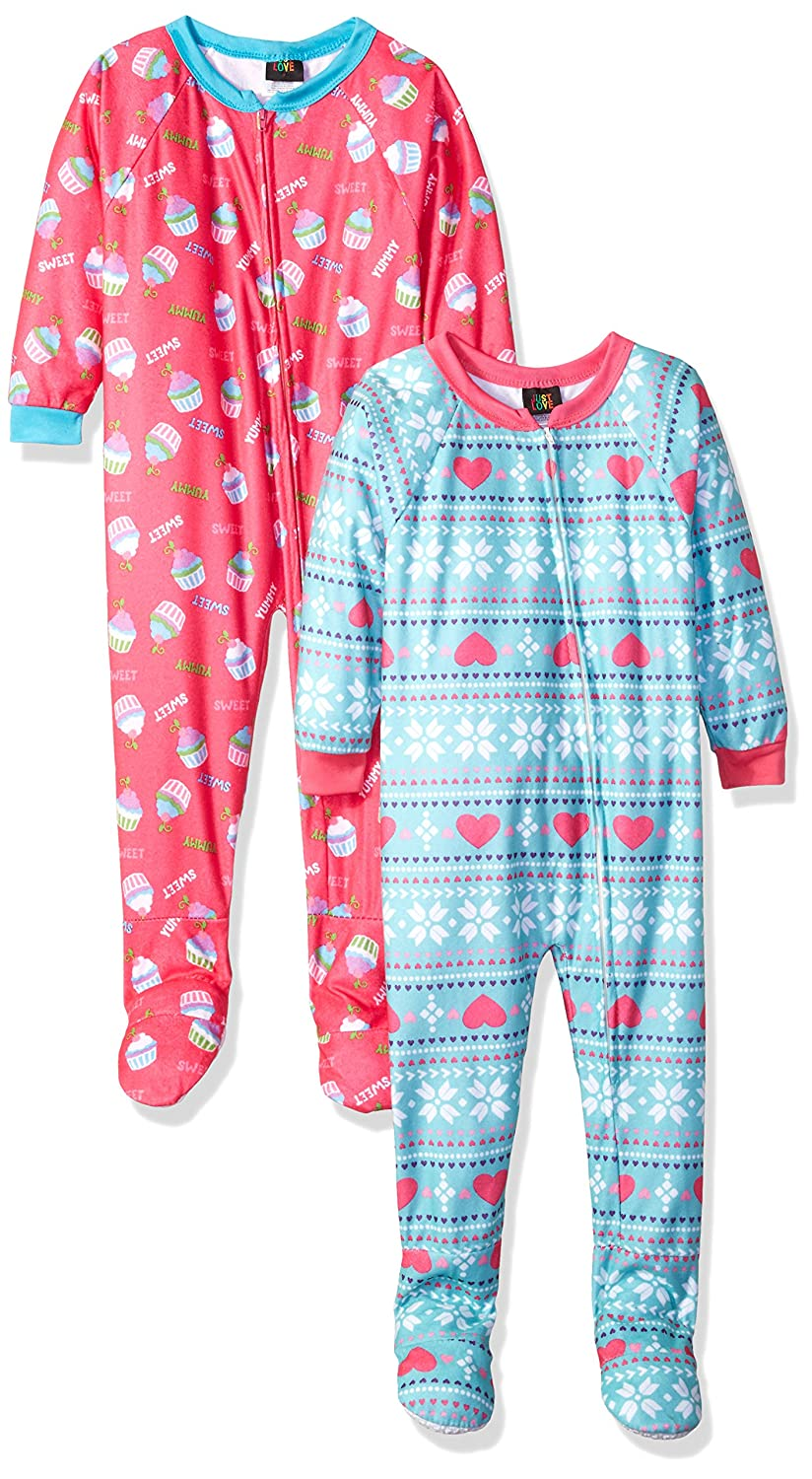 9b7a9b20e Amazon.com  Just Love Girls Footed Pajamas Flannel Blanket Sleepers ...