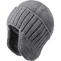 Flammi Men & Women Warm Knit Earflap Beanie Hat Cuff Beanie