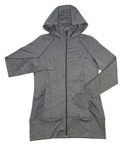 b8903bef33558 Amazon.com  Mondetta Ladies Size Small Jacquared Hooded Knit Jacket Black  Gray  Sports   Outdoors