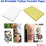 10 Sheets DIY A4 Temporary Tattoo Transfer Paper Printable Customized for Inkjet Printer