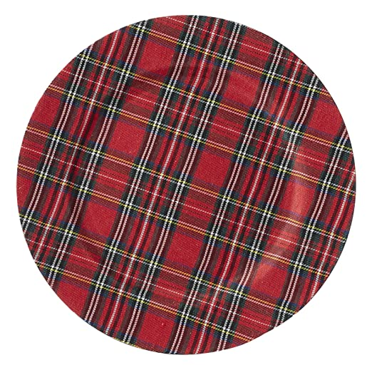 Christmas Tablescape Décor - Mud Pie tartan plaid christmas charger