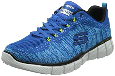 1efc569c5b7b Skechers Mens Equalizer 2.0 - Perfect Game Sneaker Blue Lime Size 10