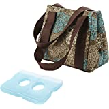 Fit & Fresh Ladies Venice Insulated Lunch bag with Ice Pack, Magnetic Closure, Teal Floral
