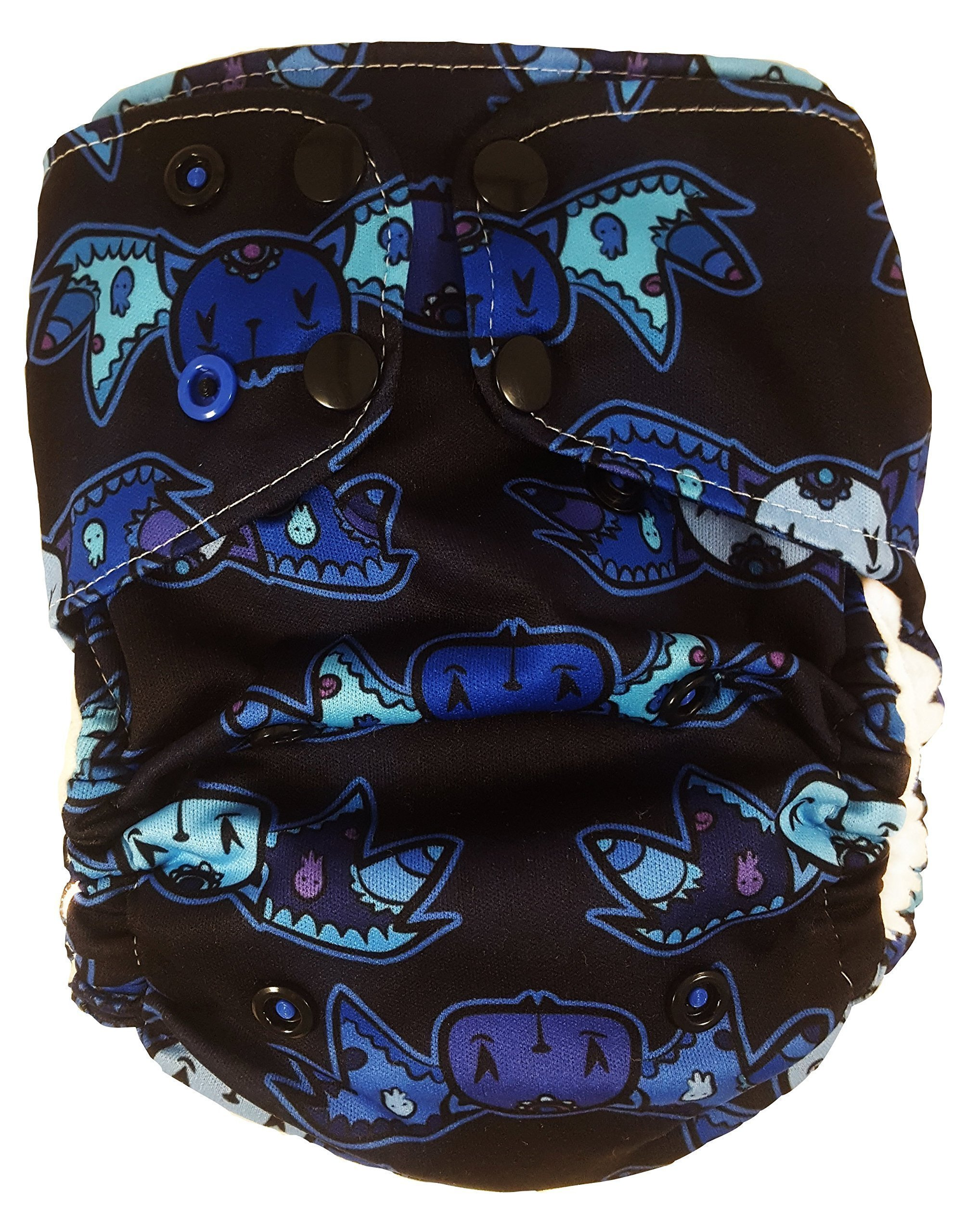 Pocket Cloth Diaper by Luke and Abby | One Size Reusable Baby Diaper - Limited Edition Moonlight Batkins Pocket Diaper
