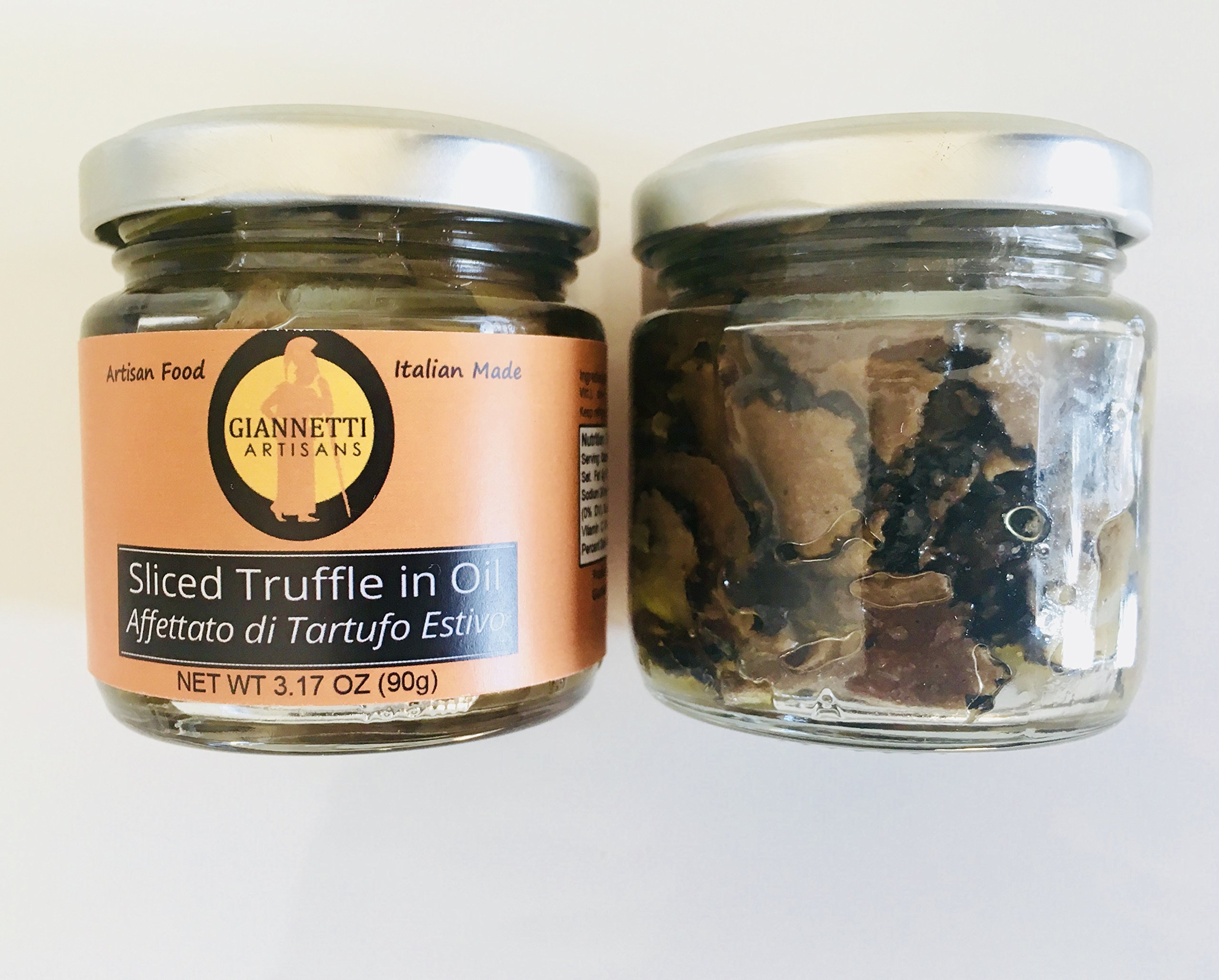 Giannetti Artisans Exclusive Sliced Black Truffles with EVOO & Imported from Tuscany, Italy - 3.17 Oz (Per Jar) by Giannetti Artisans