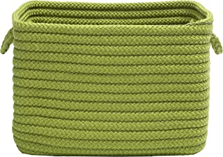 """product image for Colonial Mills Modern Farmhouse Home Basket, 12""""x8""""x10"""", Pea Green"""