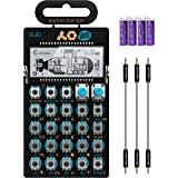 """Teenage Engineering PO-14 Pocket Operator Sub Bass Synthesizer Bundle with Blucoil 3-Pack of 7"""" Audio Aux Cables, and 4 AAA B"""