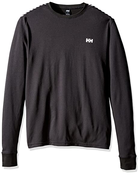 Helly Hansen Men's HH Active Flow Long Sleeve Base Layer Shirt, Black, Small