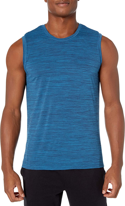 Amazon Brand - Peak Velocity Men's Novelty Jacquard Muscle Tank Top