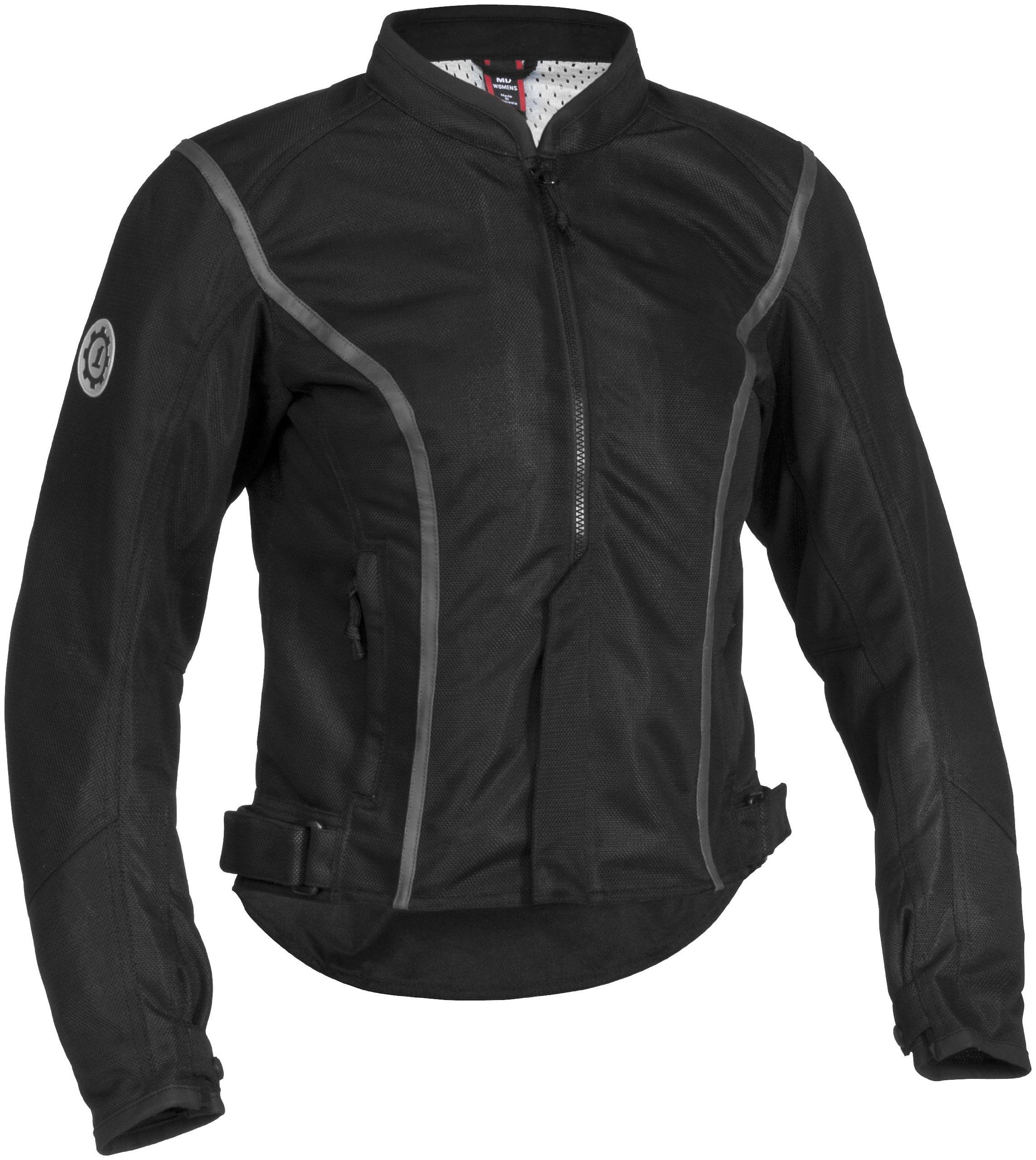 Firstgear Women's Contour Mesh Black Jacket, XS