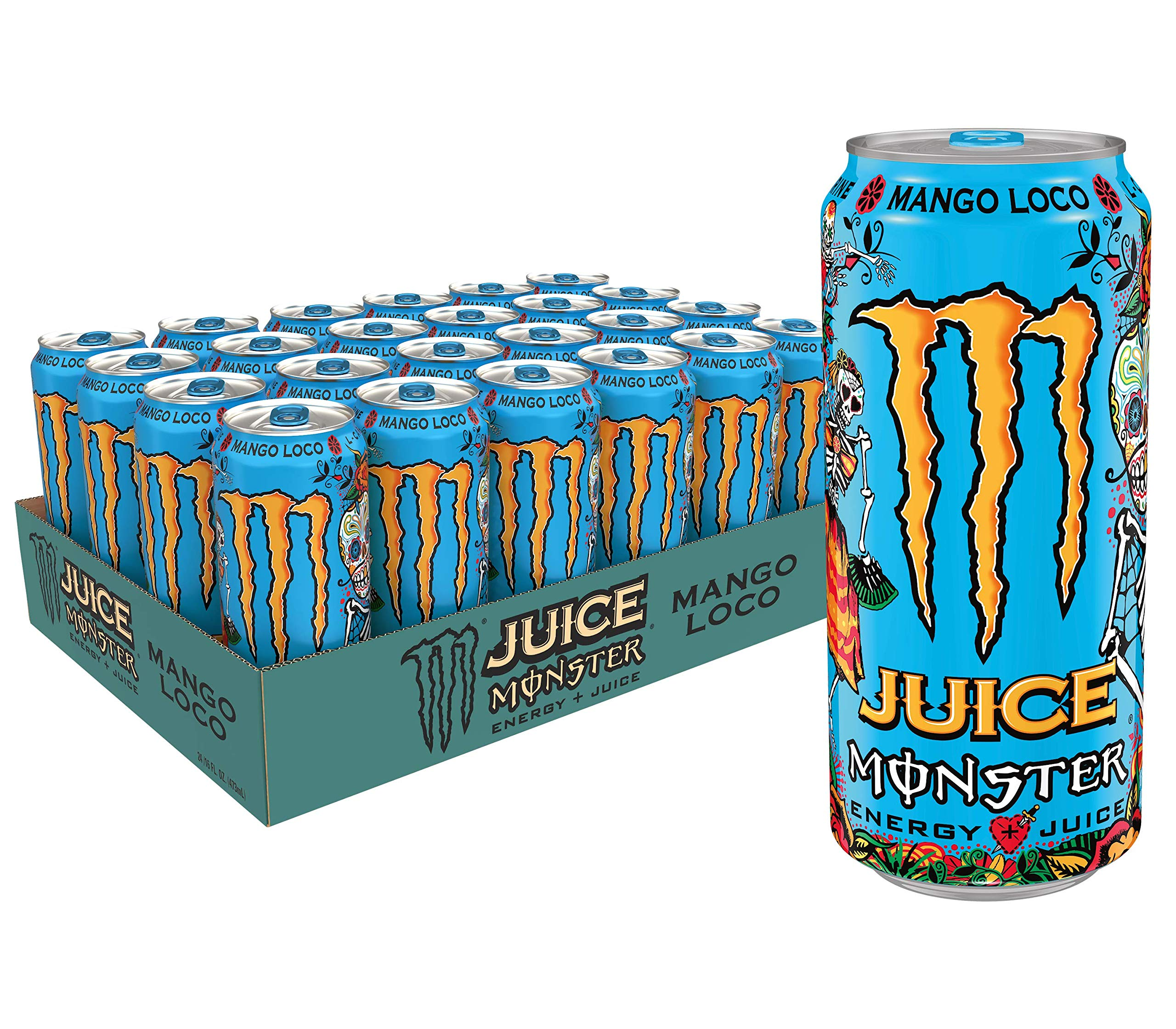 Juice Monster Mango Loco, Energy Drink, 16 Ounce (Pack of 24) by Monster Energy