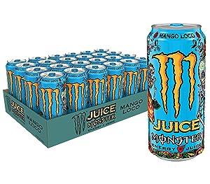 Monster Energy Juice Monster Mango Loco, Energy + Juice, Energy Drink, 16 Ounce (Pack of 24)