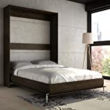 Stellar Home Wall Bed Queen Size in Wood Espresso