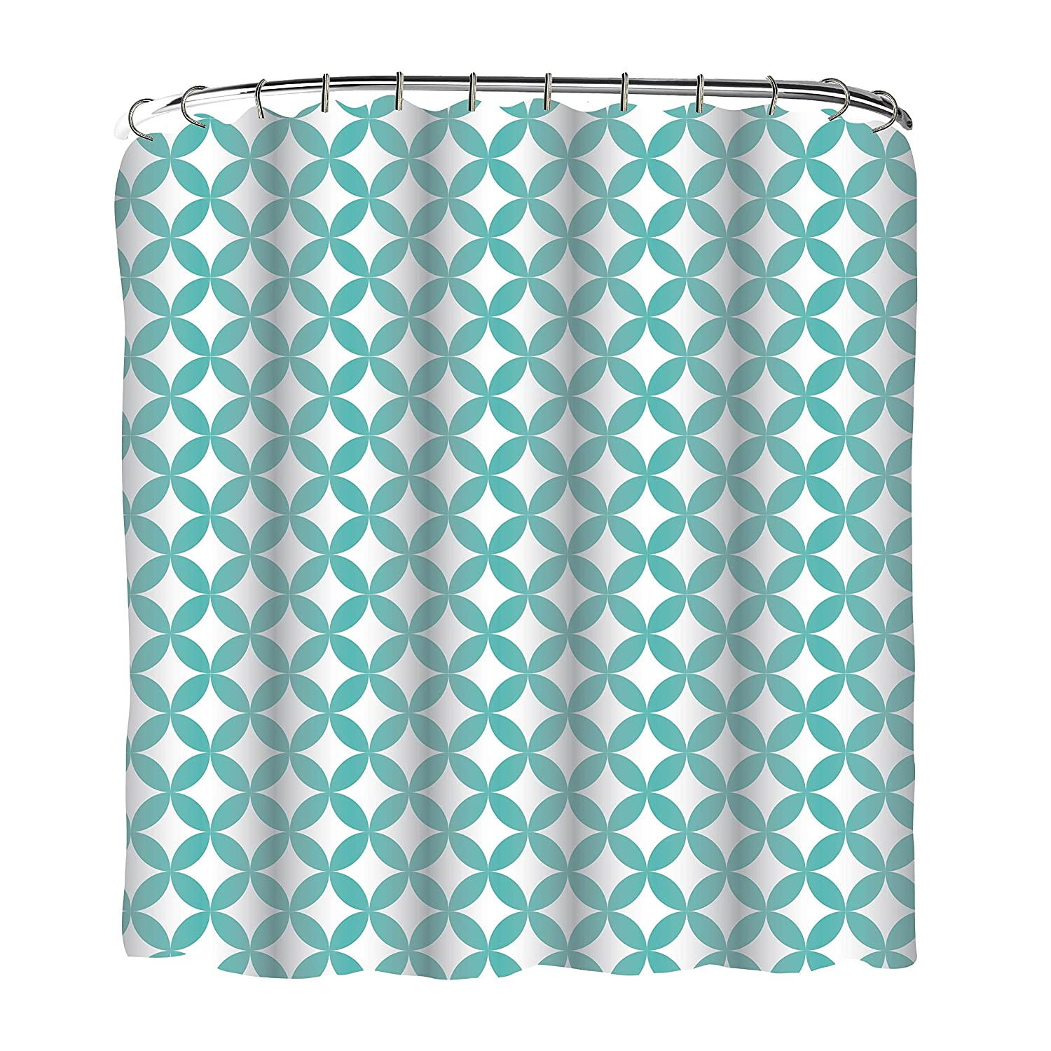 Blue ruffled shower curtains - Amazon Com Indecor Home Fscrh Rdiamond Bl Fabric Reverse Diamond Shower Curtain And Roller Hook Set Home Kitchen