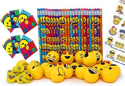 Amazon.com: Emoji Juego de accesorios para niños, lápices ...