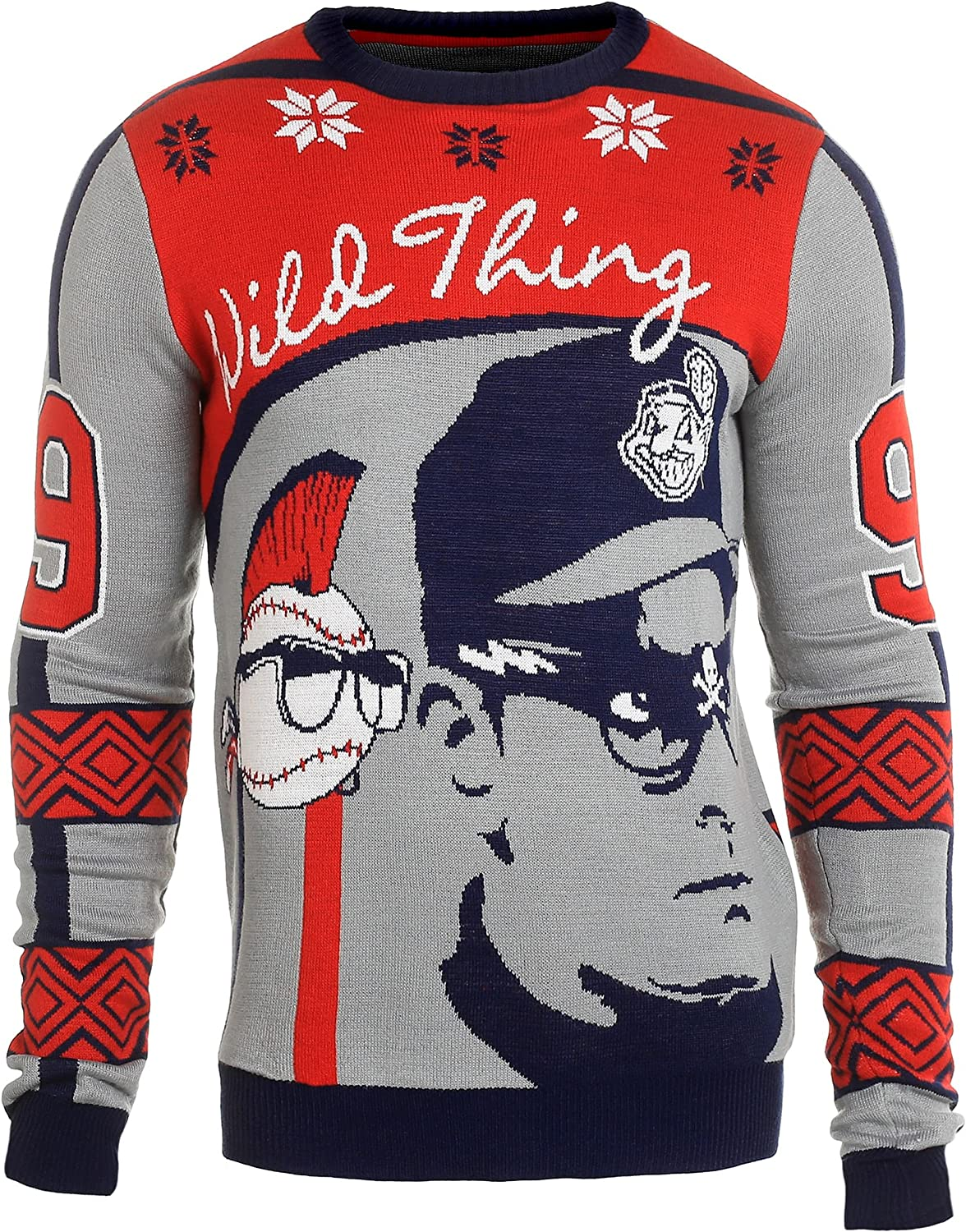 MAJOR LEAGUE EXCLUSIVE 2015 UGLY SWEATER RICKY VAUGHN MEDIUM