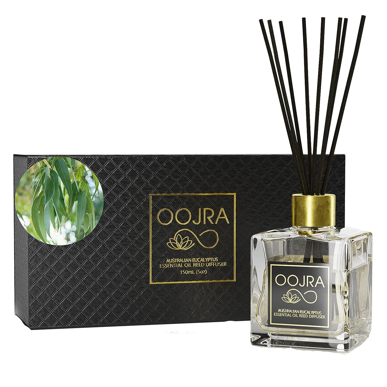 Amazon.com: Oojra Australian Eucalyptus Essential Oil Reed Diffuser Gift  Set, Glass Bottle, Reed Sticks, Natural Scented Long Lasting Fragrance Oil  (3+ ...