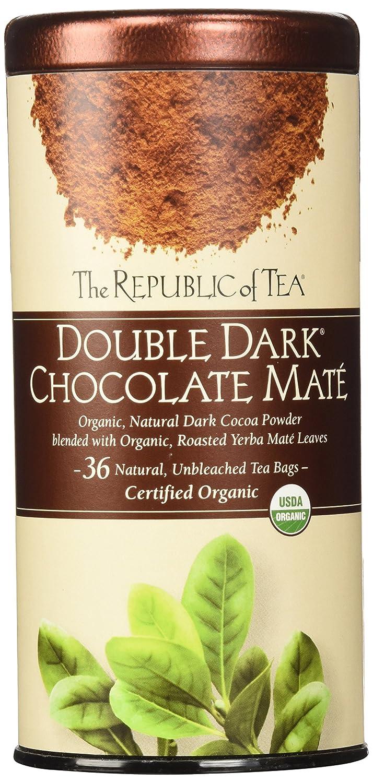 The Republic of Tea, Double Dark Chocolate Mate, 36 Count