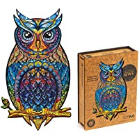 Unidragon Wooden Puzzle Jigsaw, Best Gift for Adults and Kids, Unique Shape Jigsaw Pieces Charming Owl, 8.3 x 13.8…