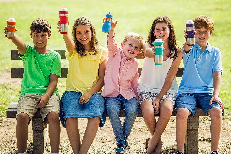 Kid Basix by New Wave Safe Sporter-Stainless Steel Lunch /& Sport Water Bottle