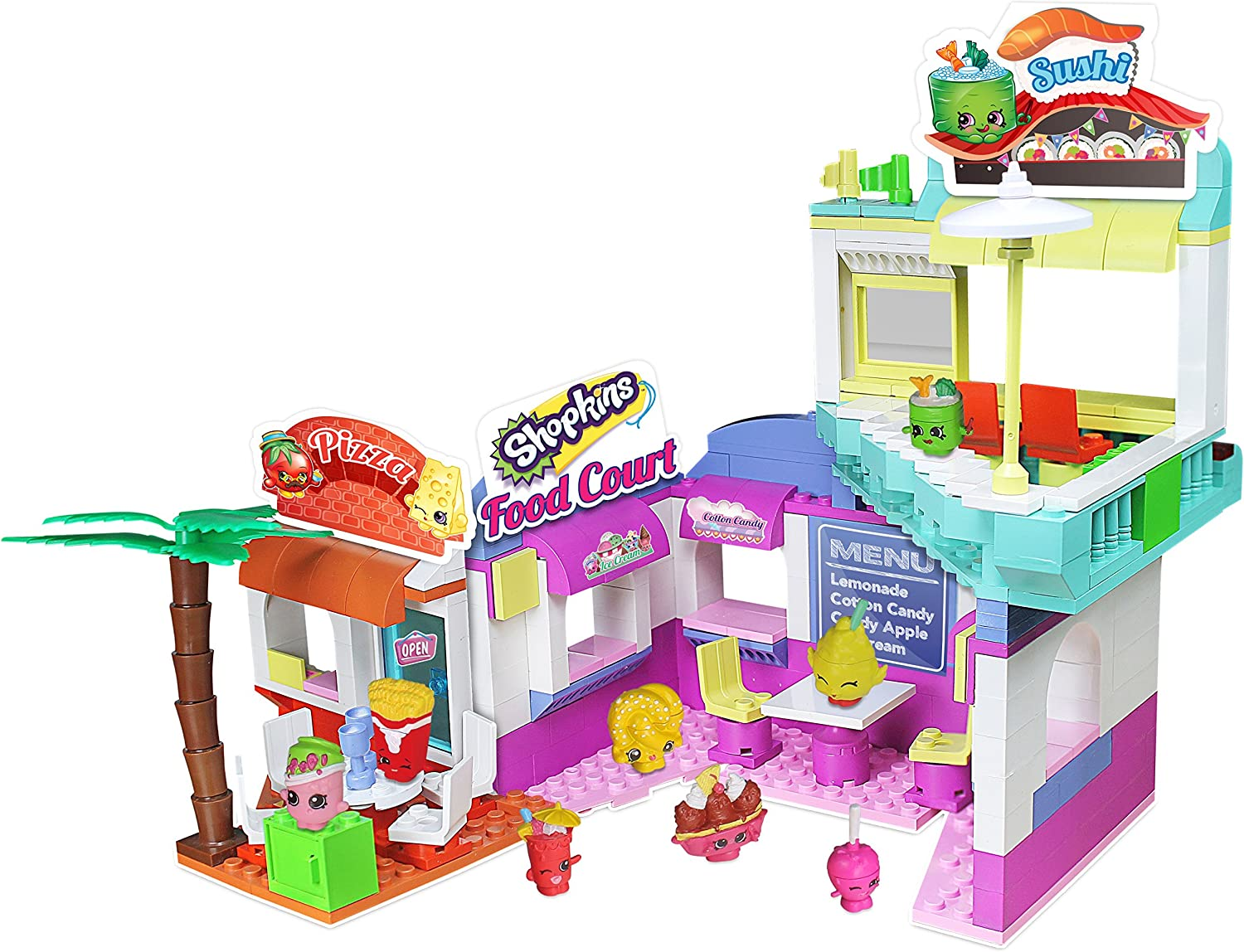Shopkins Kinstructions Shopville Deluxe Food Court Model