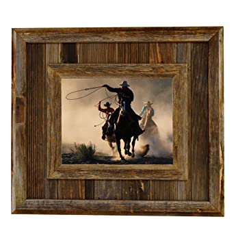 durango rustic barnwood picture frame 8x10 opening western aged wood frame