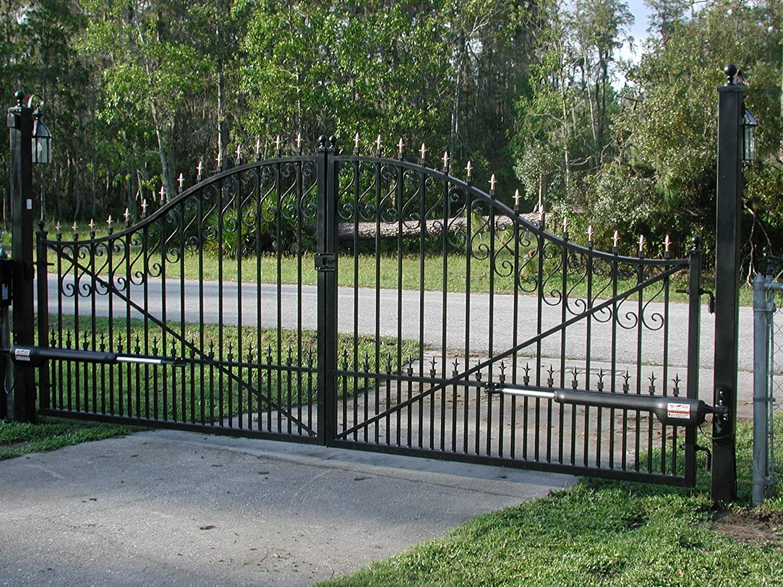 monaco default emalu boarded dual straight top by gate swing plain aluminium