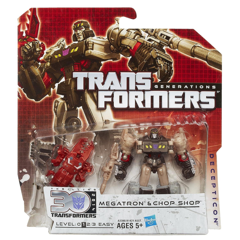 Transformers Generations Legends Class Megatron and Chop Shop Figures Hasbro A3386