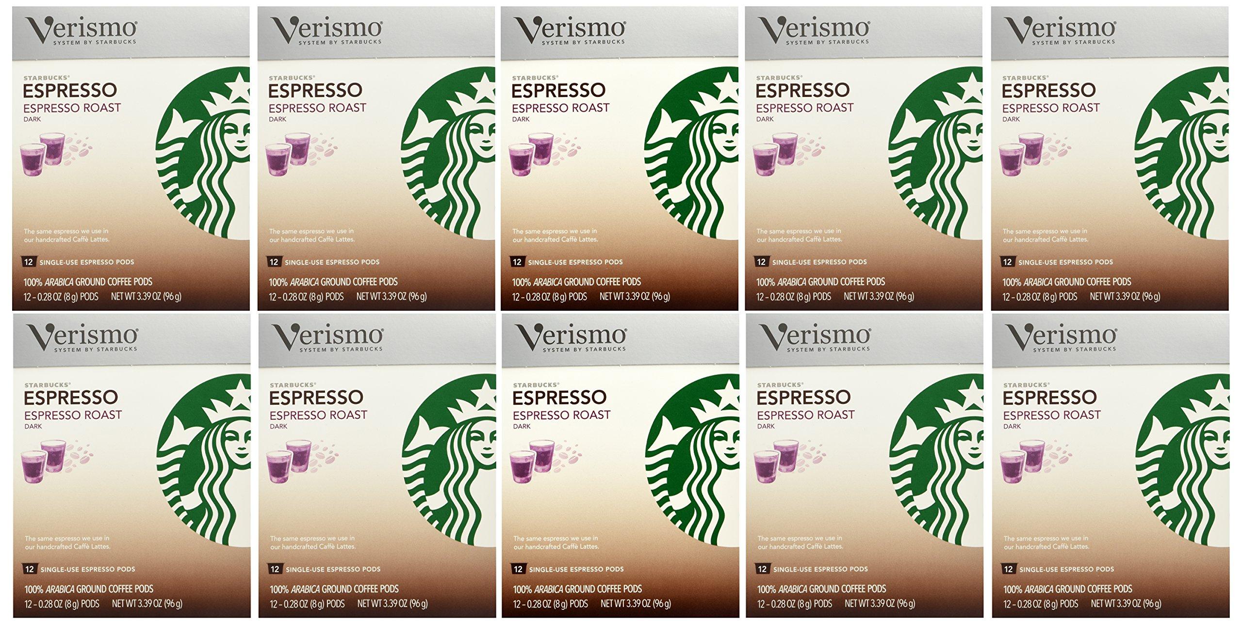 Starbucks Verismo Espresso Roast Espresso Pods - 12 ct(Pack of 12) by Starbucks
