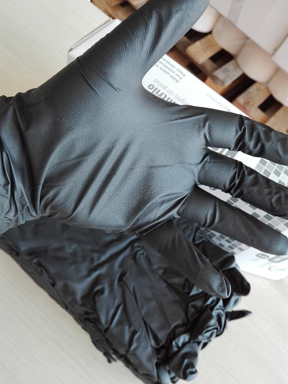 Guantes de nitrilo negro Extreme. Caja 100 uds. Talla Mediana: Amazon.es: Bricolaje y herramientas