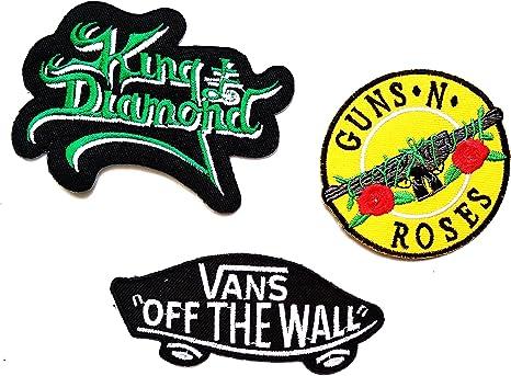 Música banda Set 3 pcs parche King Diamond Guns N Roses furgonetas ...