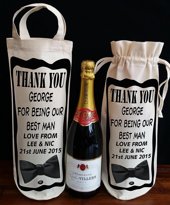Wedding Gift For Best Man Wine Bag Best Man Gift Wedding Favour