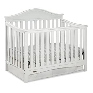 Graco Harbor Lights Convertible Crib, White, Easily Converts to Toddler Bed Day Bed or Full Bed, Three Position Adjustable Height Mattress (Mattress Not Included)