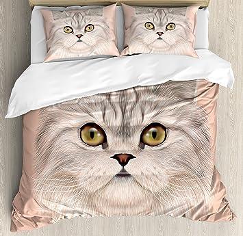 Gato de edredón por Ambesonne, vertical de Domestic gato ...