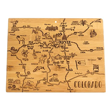 Totally Bamboo Colorado State Destination Bamboo Serving And Cutting Board