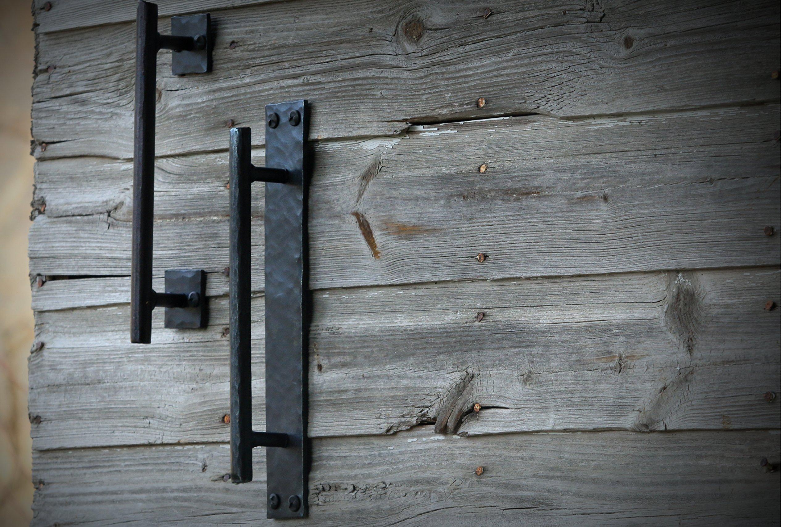 Barn Door Handle Pull Handmade Barndoor Hardware Hand Forged Wrought Iron  Barndoor Handles SSB   43179 79259 U003c Handlesets U003c Tools U0026 Home Improvement    TIBS