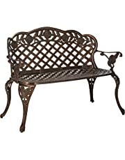 Oakland Living Summer Rose Love Seat Settee, Antique Bronze