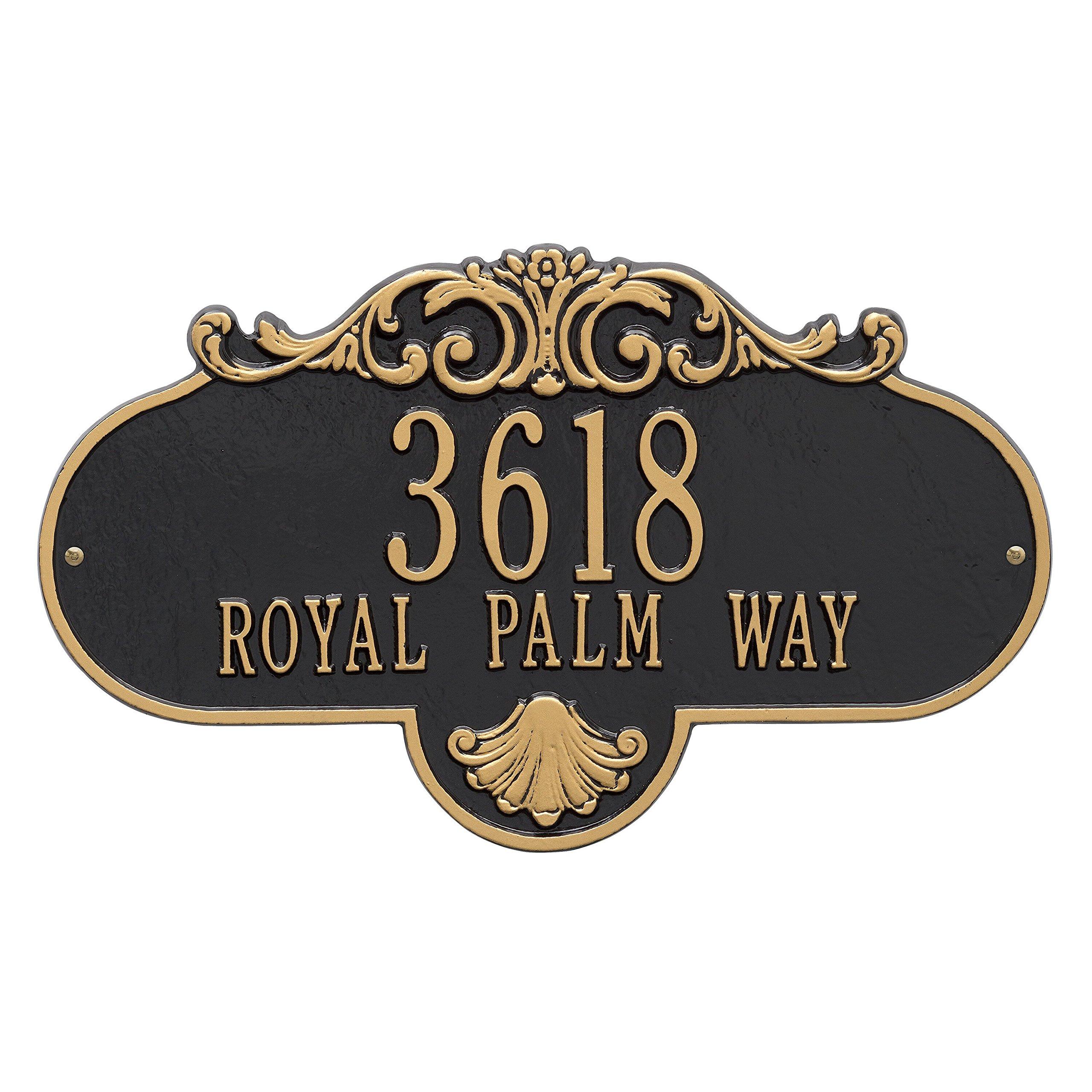 Rochelle Address Plaque 18Lx10H (2 Line)