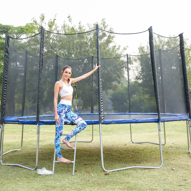 Swteeys Großes Gartentrampolin Komplett Set Outdoor Gartentrampolin Jumper