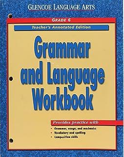 Amazon glencoe language arts grammar and language workbook grammar and language workbook grade 6 course 1 teachers annotated edition glencoe fandeluxe Gallery