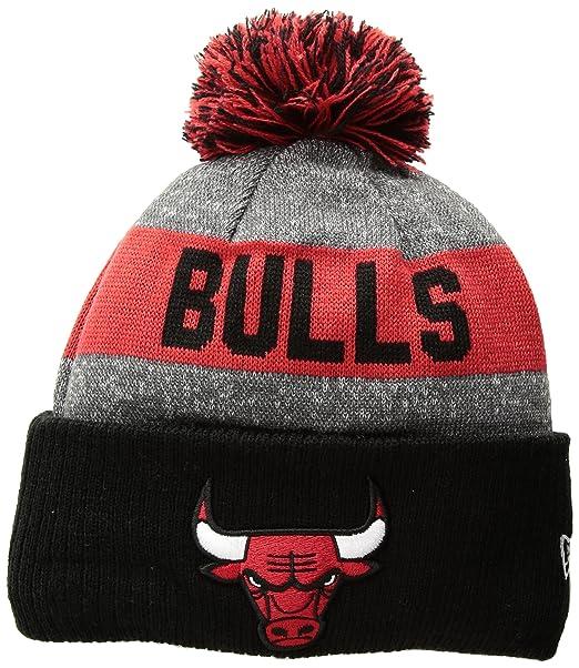 new arrival f196e ffdd1 NBA Chicago Bulls Ne16 Sport Knit Beanie, Red, One Size