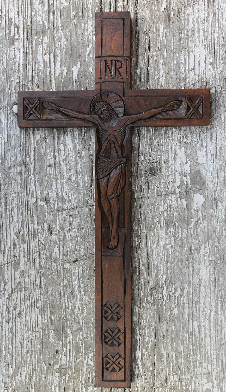 Wooden wall decor handmade wall crucifix church supplies housewarming presents