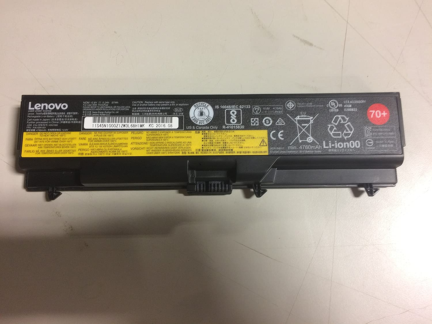 Lenovo Battery 70+, p/n; 0A36302, 6 Cell Original Retail Package Lithium Ion ThinkPad System Battery for Select Models.