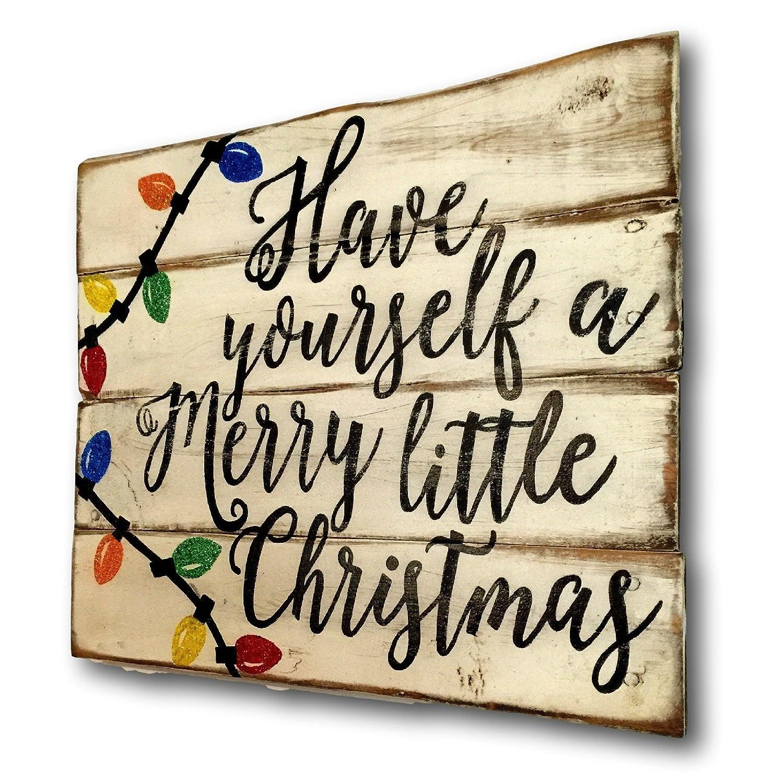Merry Texas Christmas Y/'all Printed Handmade Wood Christmas Ornament Small Sign