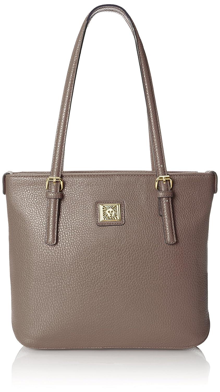 d075787f23 Amazon.com: Anne Klein Perfect Tote Small Shopper, Medium Grey: Clothing